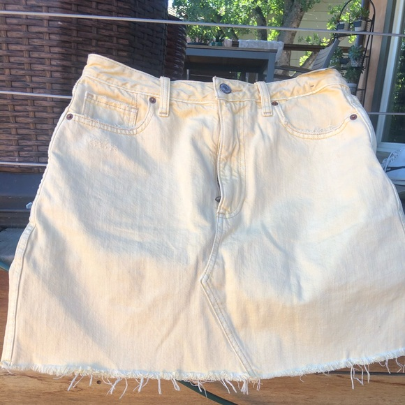 Abercrombie & Fitch Dresses & Skirts - Yellow jean skirt